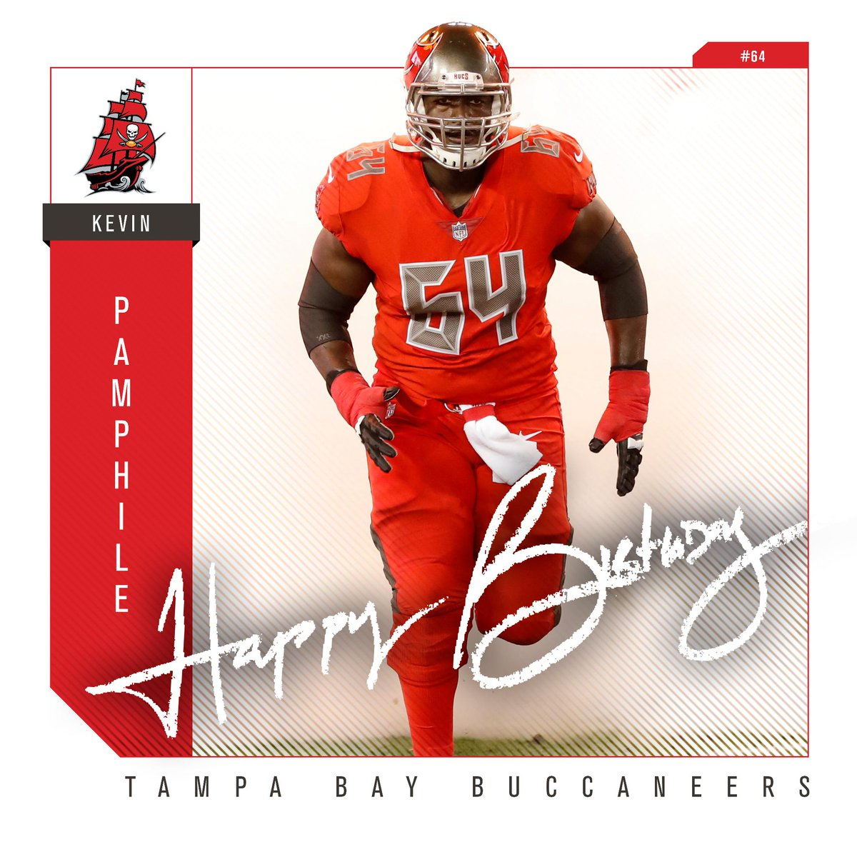Tampa Bay Buccaneers: #Bucs Fans, Help Us Wish @KevinPamphile64 A Happy Birthday