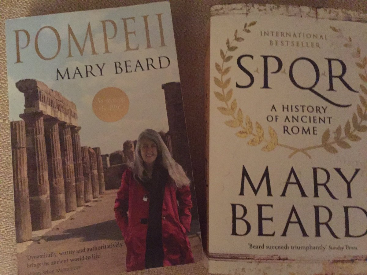 My choice #HistoryBooksByWomen on this #ScholarSunday - has to be @wmarybeard https://t.co/BUNyO4JPGn
