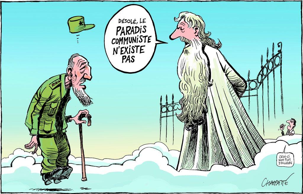 Mort de Fidel Castro - © Chappatte dans Le Temps, Suisse