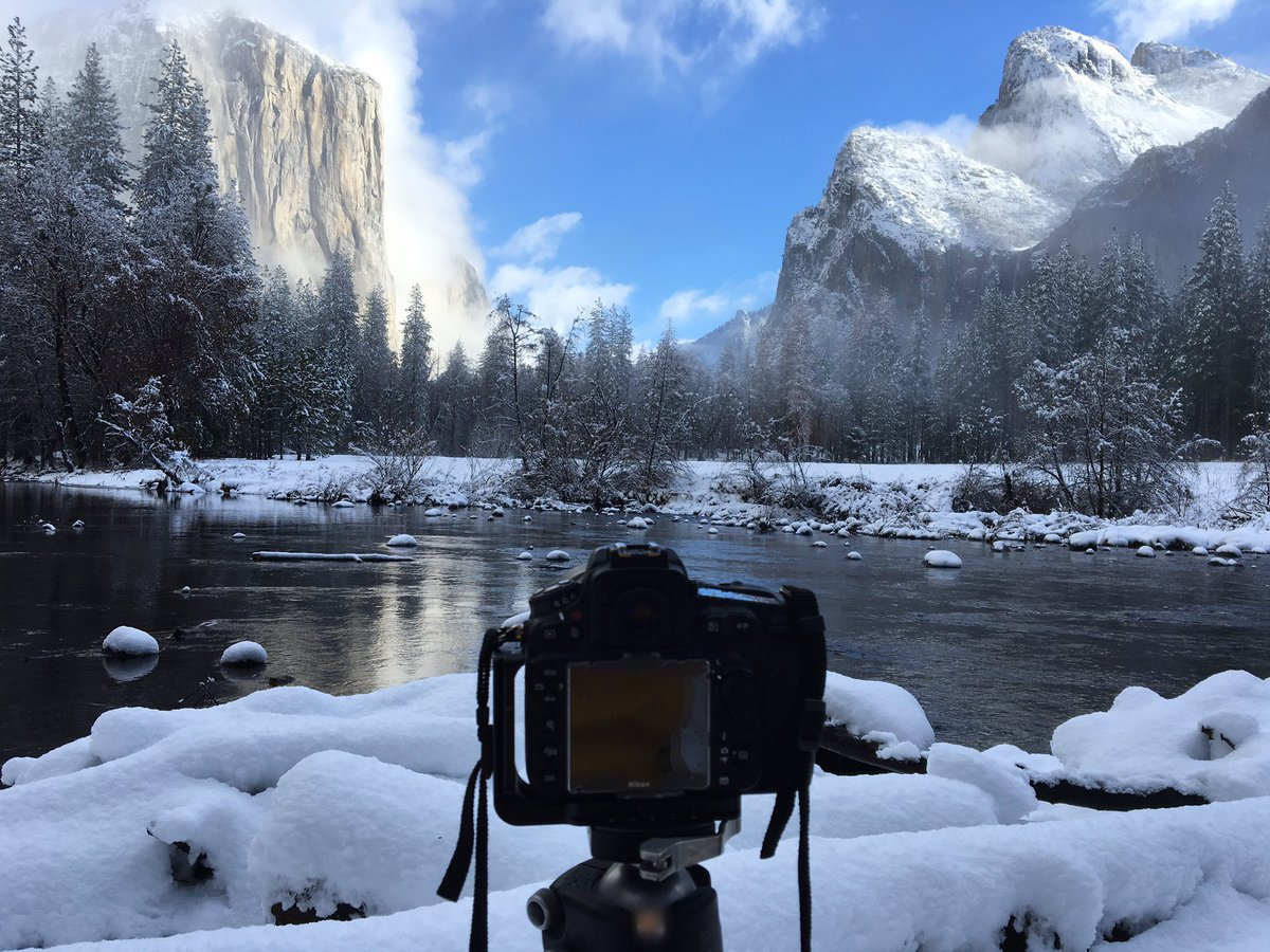Nice view this morning. I had to drive to Yosemite to verify our forecast https://t.co/Sm3uVF3Tx1