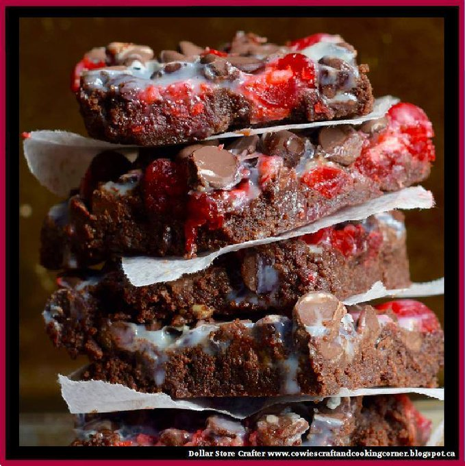 Chocolate Covered Cherry Magic Bars