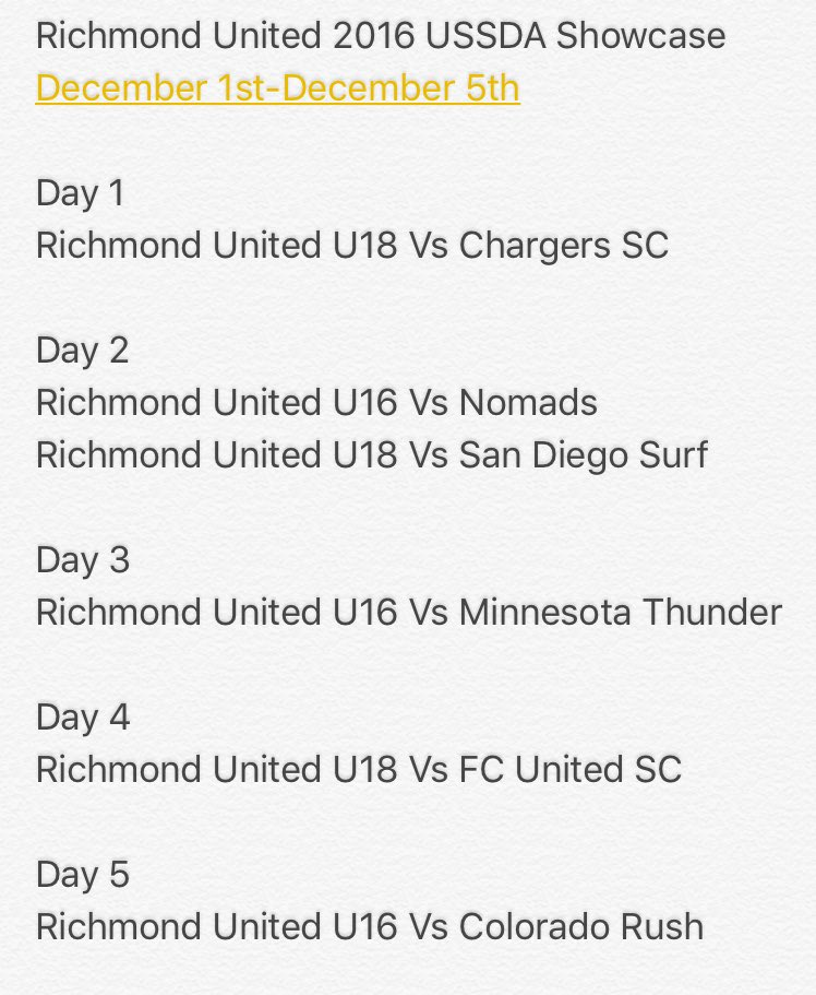 Dmv Soccer On Twitter Richmond United Richutdda 2016 Ussda