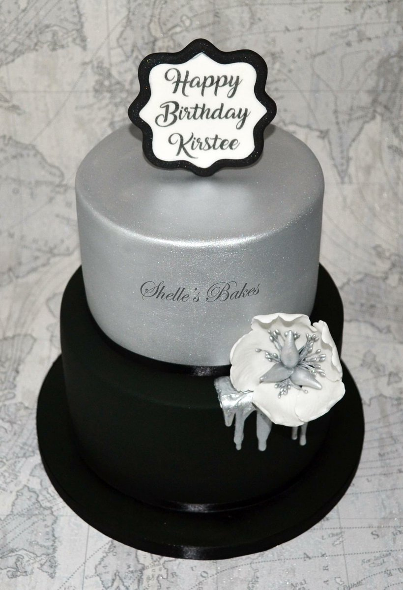 Tremendous Shelles Bakes Ltd On Twitter Strikingly Elegant Silver And Personalised Birthday Cards Epsylily Jamesorg