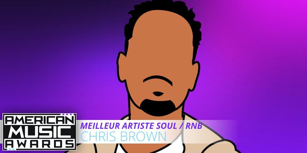 Bravo à @chrisbrown qui remporte le prix du meilleur artiste soul/rnb #AMAs