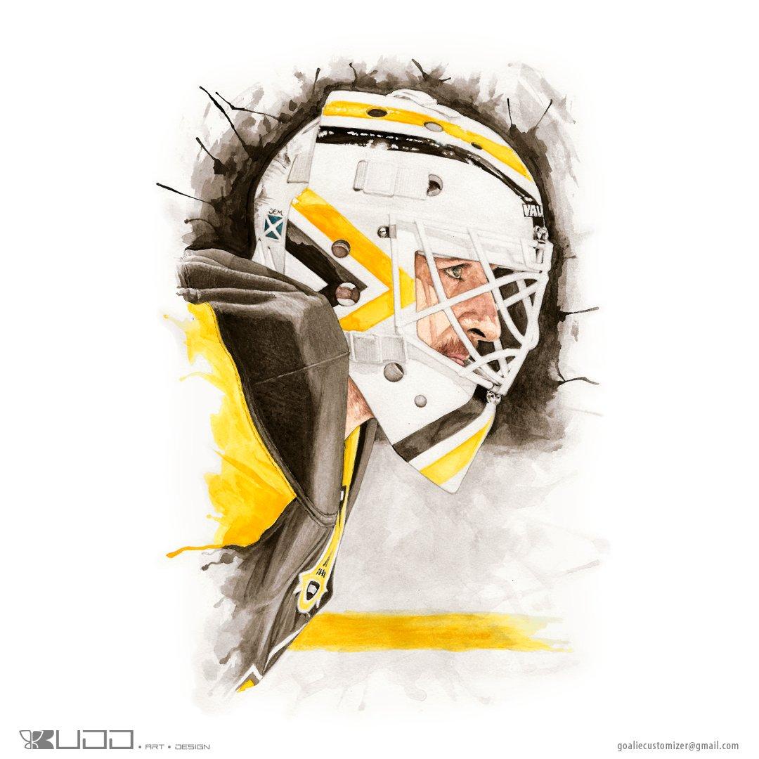 &quot;#Matt #Murray watercolor #portrait I finished recently.&quot; #hockey #sports<br>http://pic.twitter.com/c0qq3Szu7I