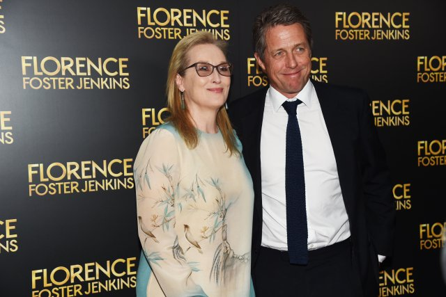 Meryl Streep and Hugh Grant Premiere 'Florence Foster Jenkins' in New York