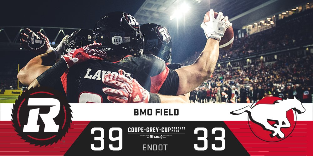 Red, Black & Grey!   The @REDBLACKS are your @Shaw_CFL #GreyCup Champions! #CFL https://t.co/DZ9Lh1Gpfa