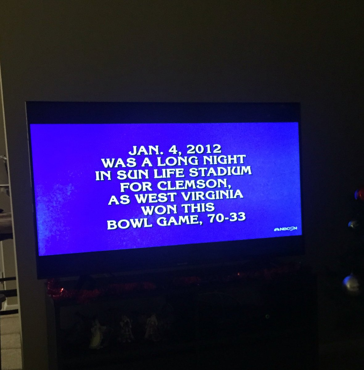 #WVU question on Sports Jeopardy https://t.co/wBkzbHhVZr