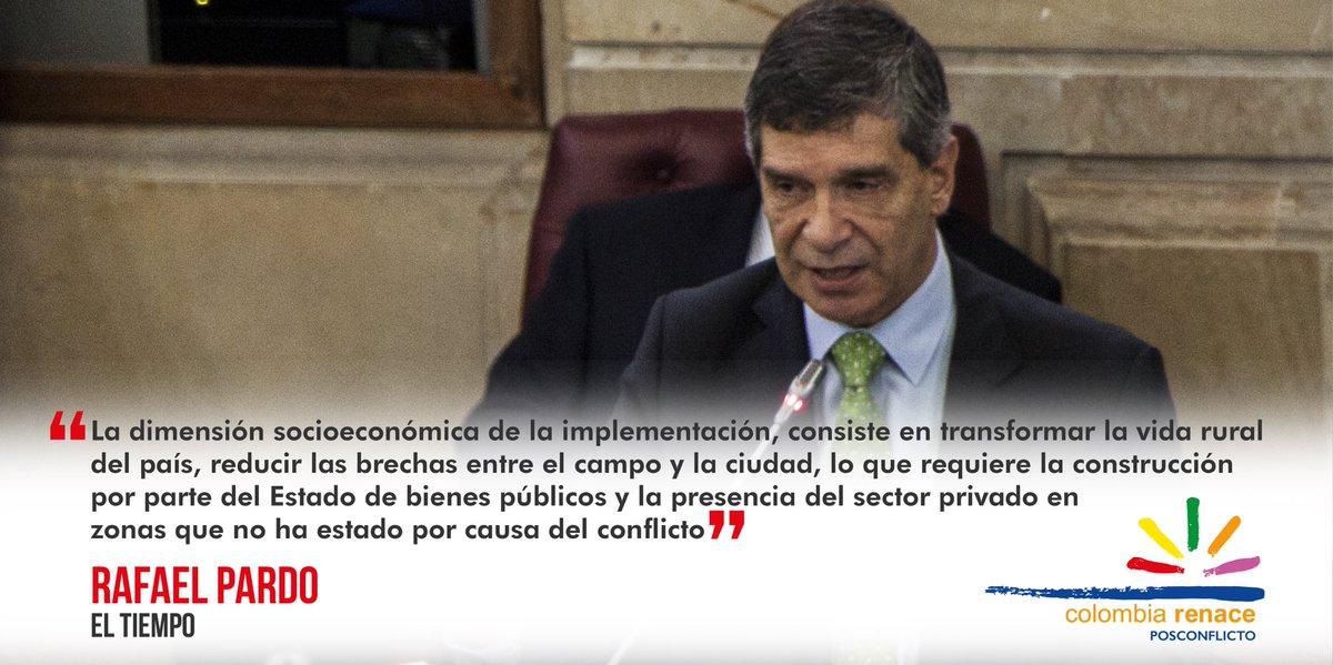 Transformar el campo demandará un gran despliegue del Estado y la presencia del sector privado en las zonas de #Posconflicto.