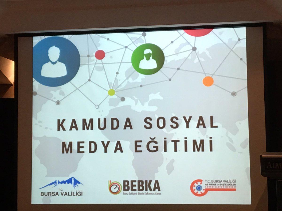 BursaValiliğimizin düzenlediği Kamuda Sosyal Medya Kullanımı eğitimlerindeyiz #kamudasosyalmedya  #bursaab  #bursaeu  @bursa_ab  @BursaValiligi
