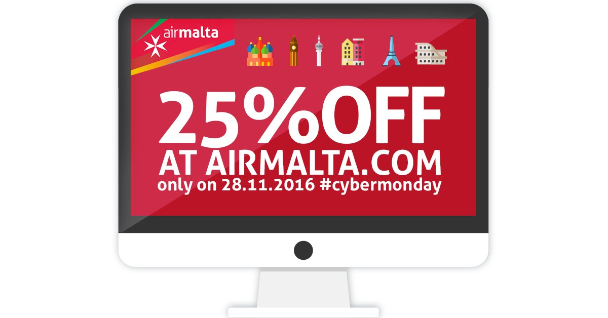 Cyber Monday Air Malta