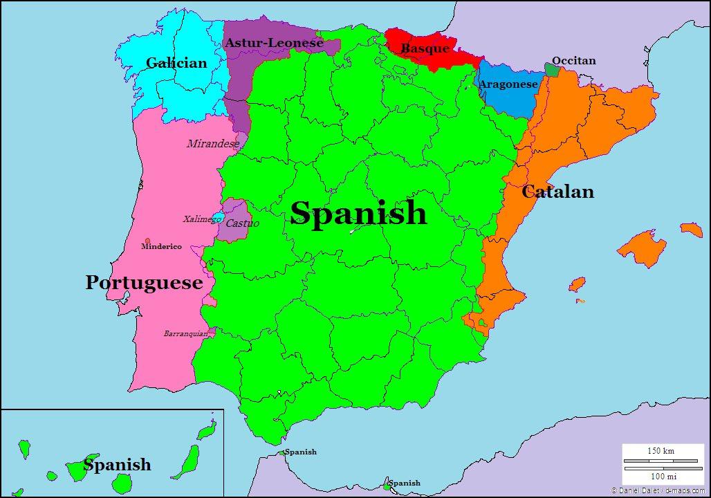 UK Languages Mapping On Twitter Linguistic Map Iberian - Portugal map iberian peninsula
