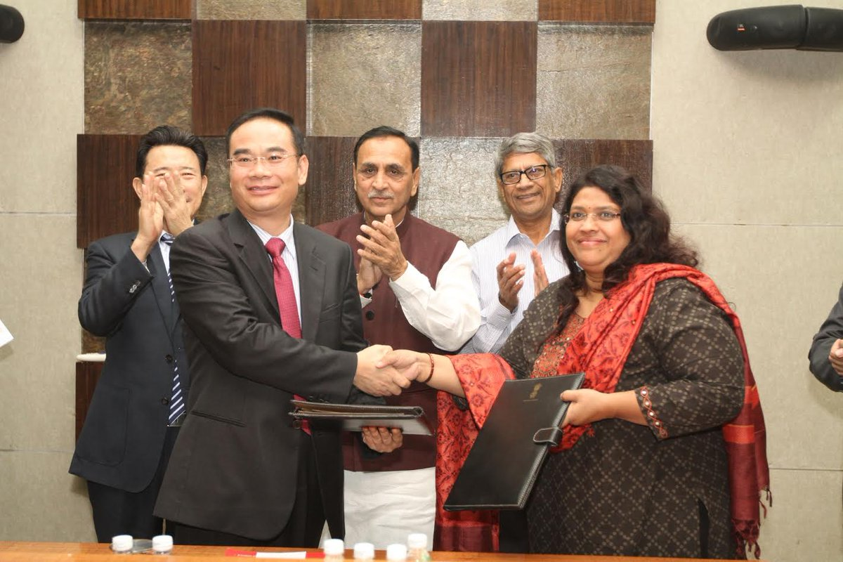 Sany group to invest USD 2 billion investment in Gujarat, MoU signed in presence of CM