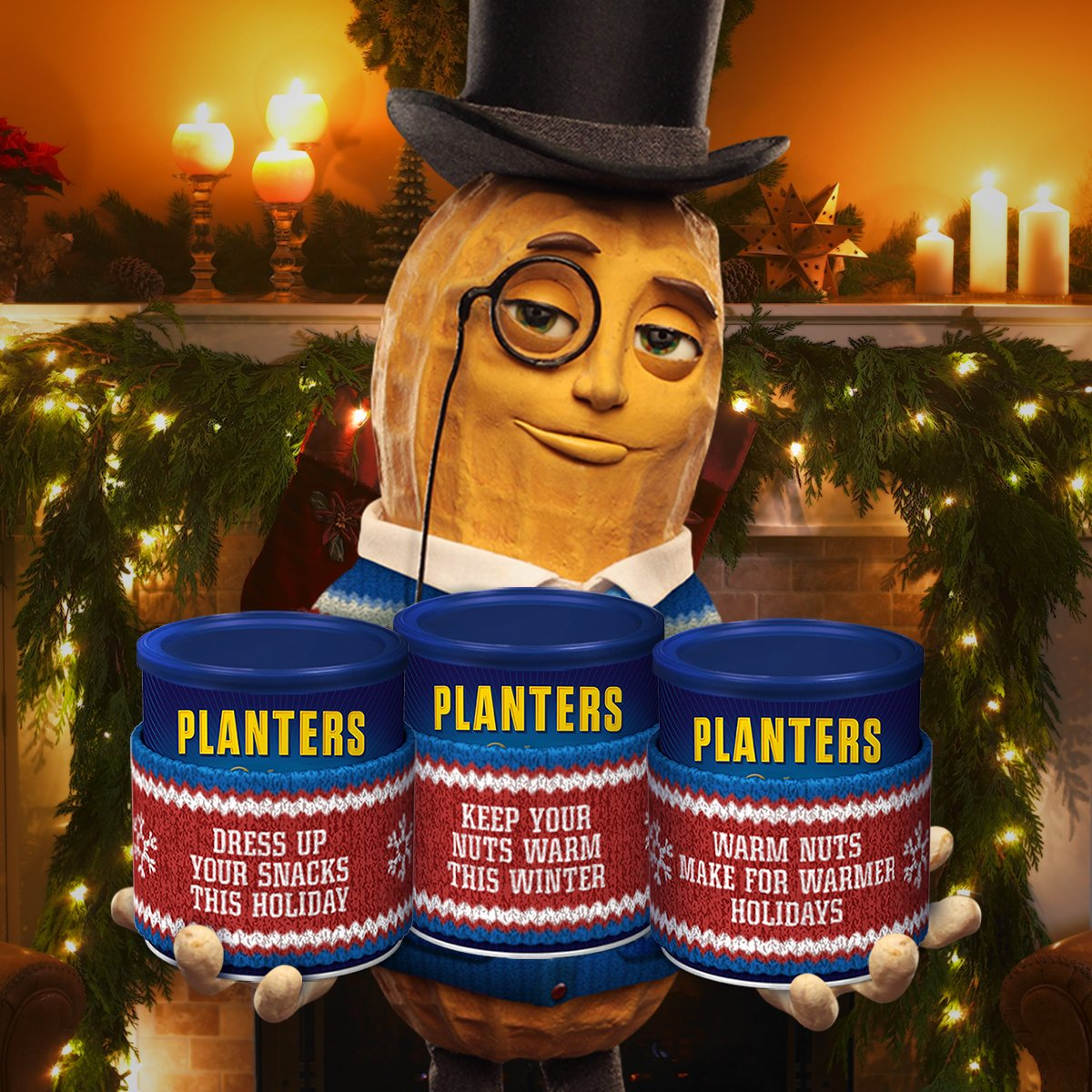 Christmas Planters Peanuts.Mr Peanut On Twitter It S The Most Wonderful Time Of Year