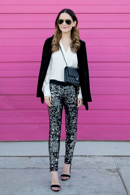 Sequin Holiday Outfit