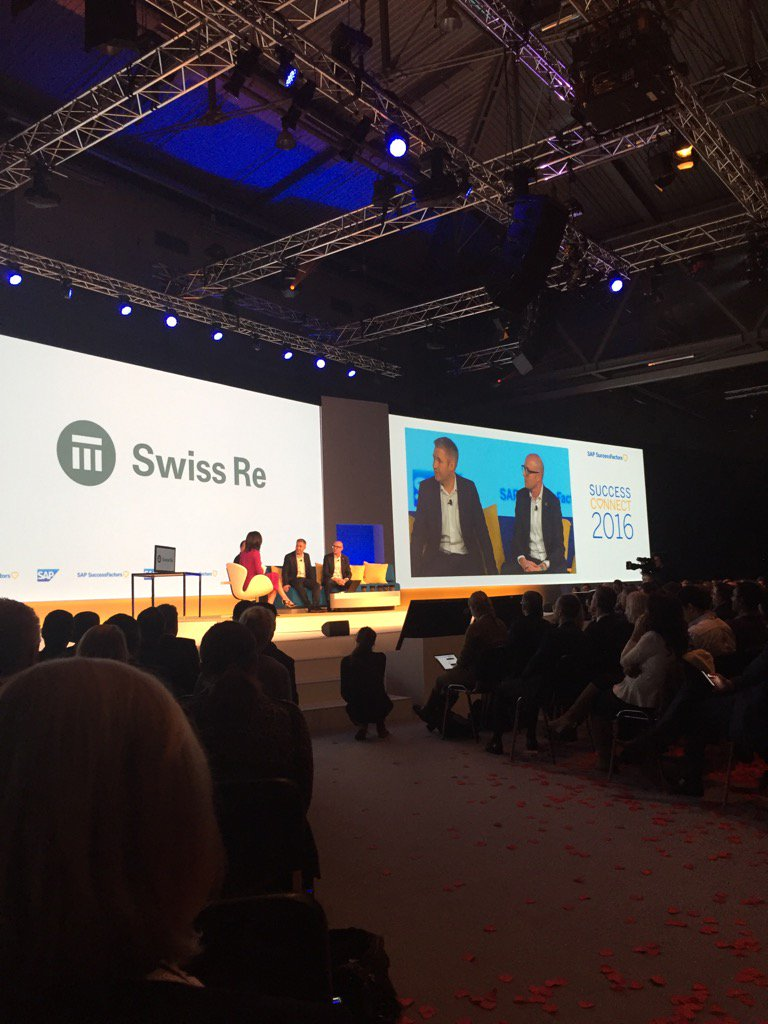 Enjoying seeing SwissRe on stage. They made a big bet with us. Lovely to see it pay off. #sconnect16 #sconnect https://t.co/XPVTFfSn0m