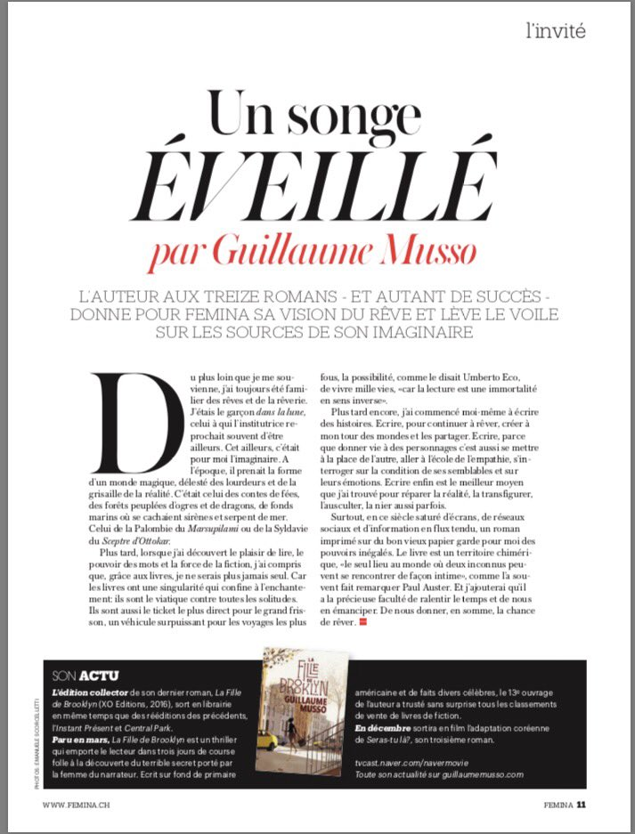 Guillaume Musso On Twitter Mon Texte Sur La Lecture L