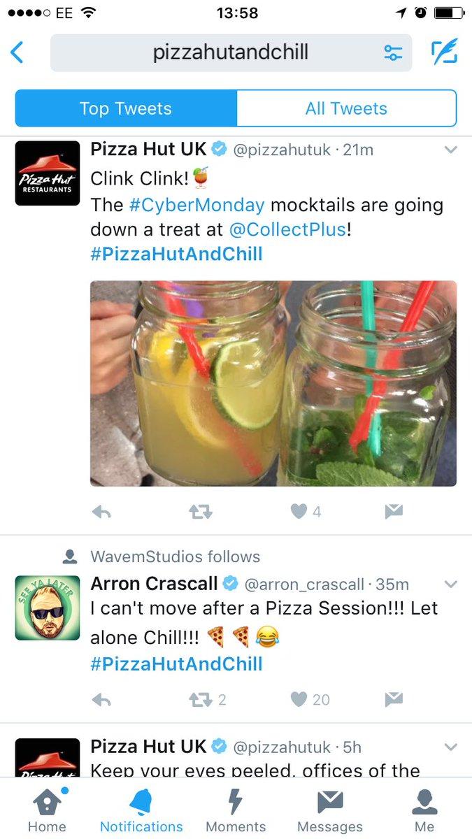 pizzahutandchill hashtag on Twitter