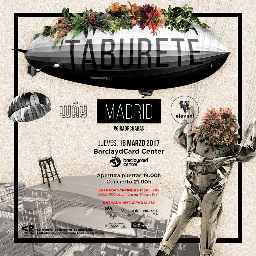 Taburete entradas for Entradas concierto taburete