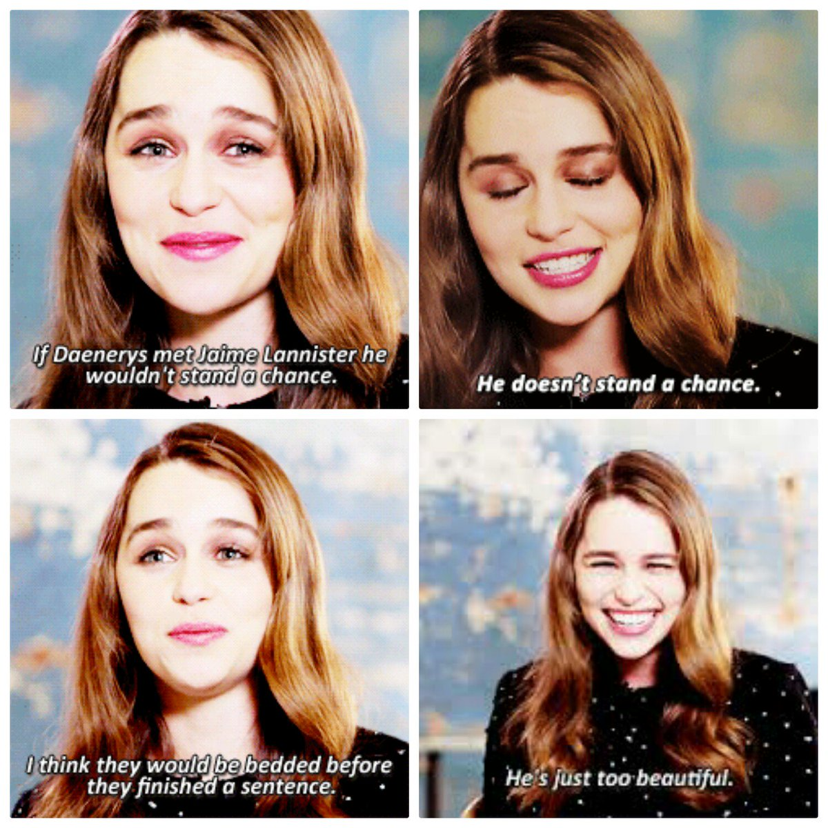 Emilia clarke fans on twitter jaime lannister and daenerys emilia clarke fans on twitter jaime lannister and daenerys targaryen might meet in season 7 this what emilia clarke thinks might happen m4hsunfo