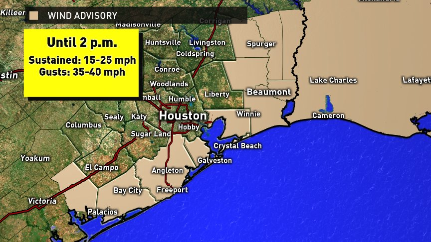 A wind advisory is in effect for our coastal counties ...