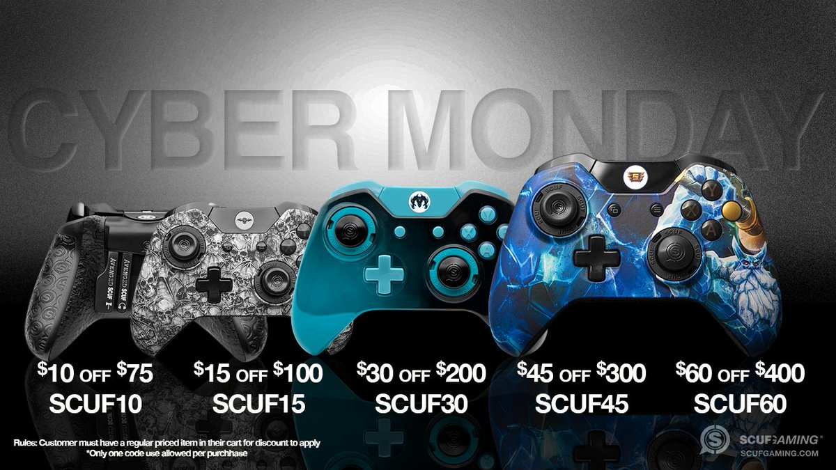 Scuf On Twitter Cyber Monday Is A Great Time To Save Big On Your Favorite Scuf Controllers Https T Co Wgooktti9w