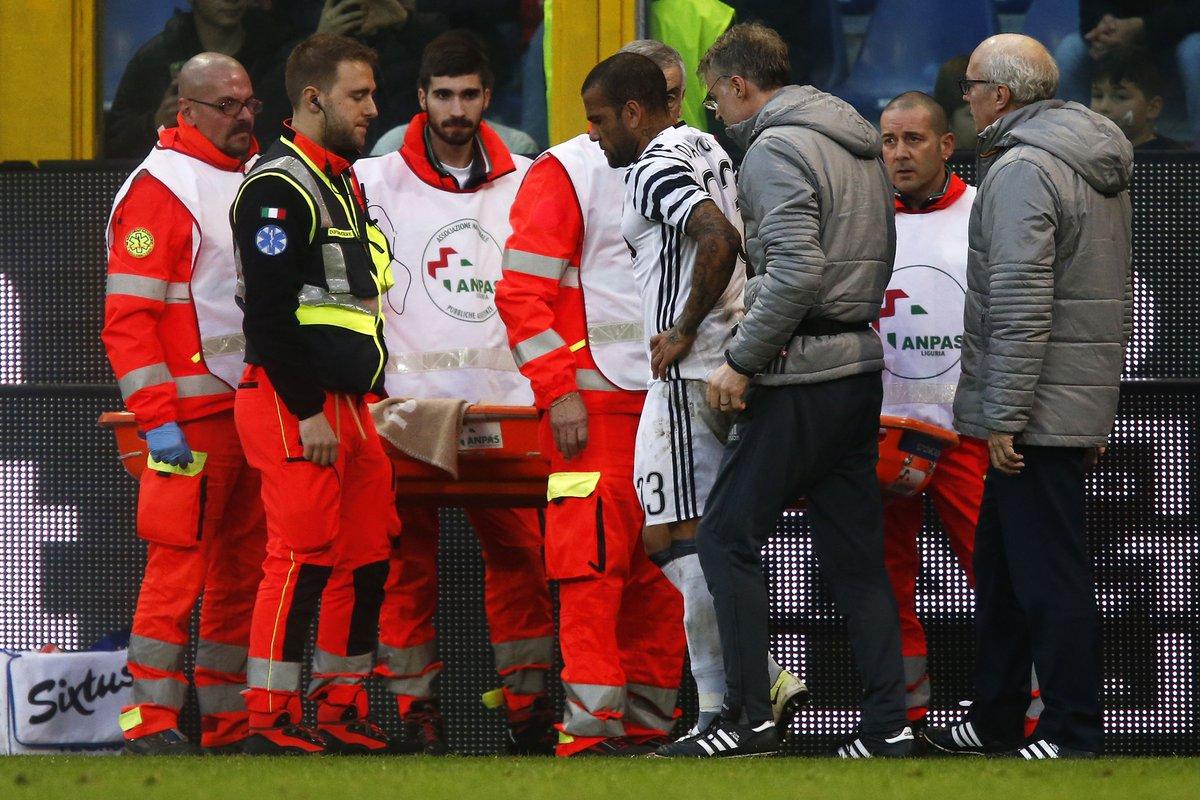 Juve: frattura del perone per Dani Alves, anche Bonucci ko