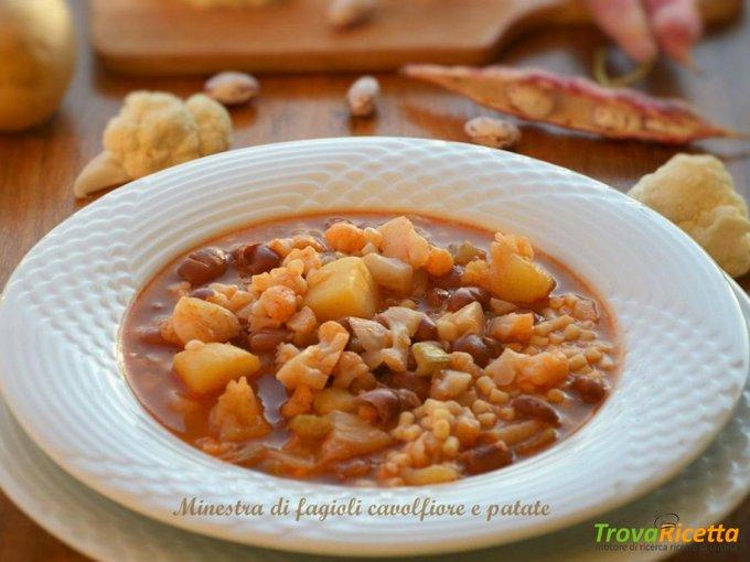 Minestra di fagioli patate e cavolfiore
