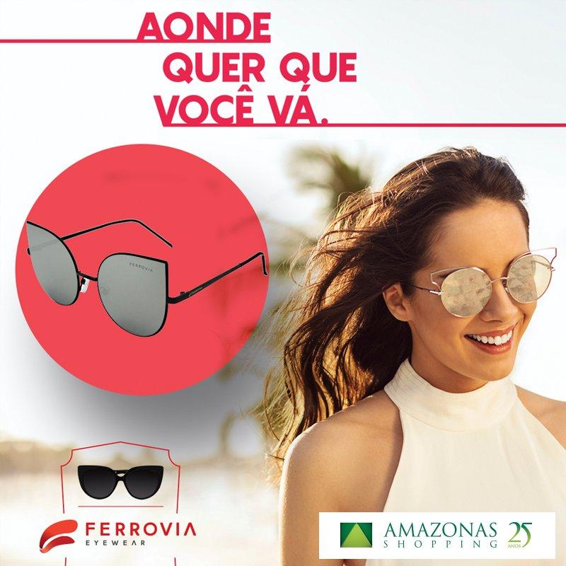 Na Ferrovia do Amazonas Shopping você escolhe o óculos que mais combina com seu estilo. https://t.co/shbr6UYmoC