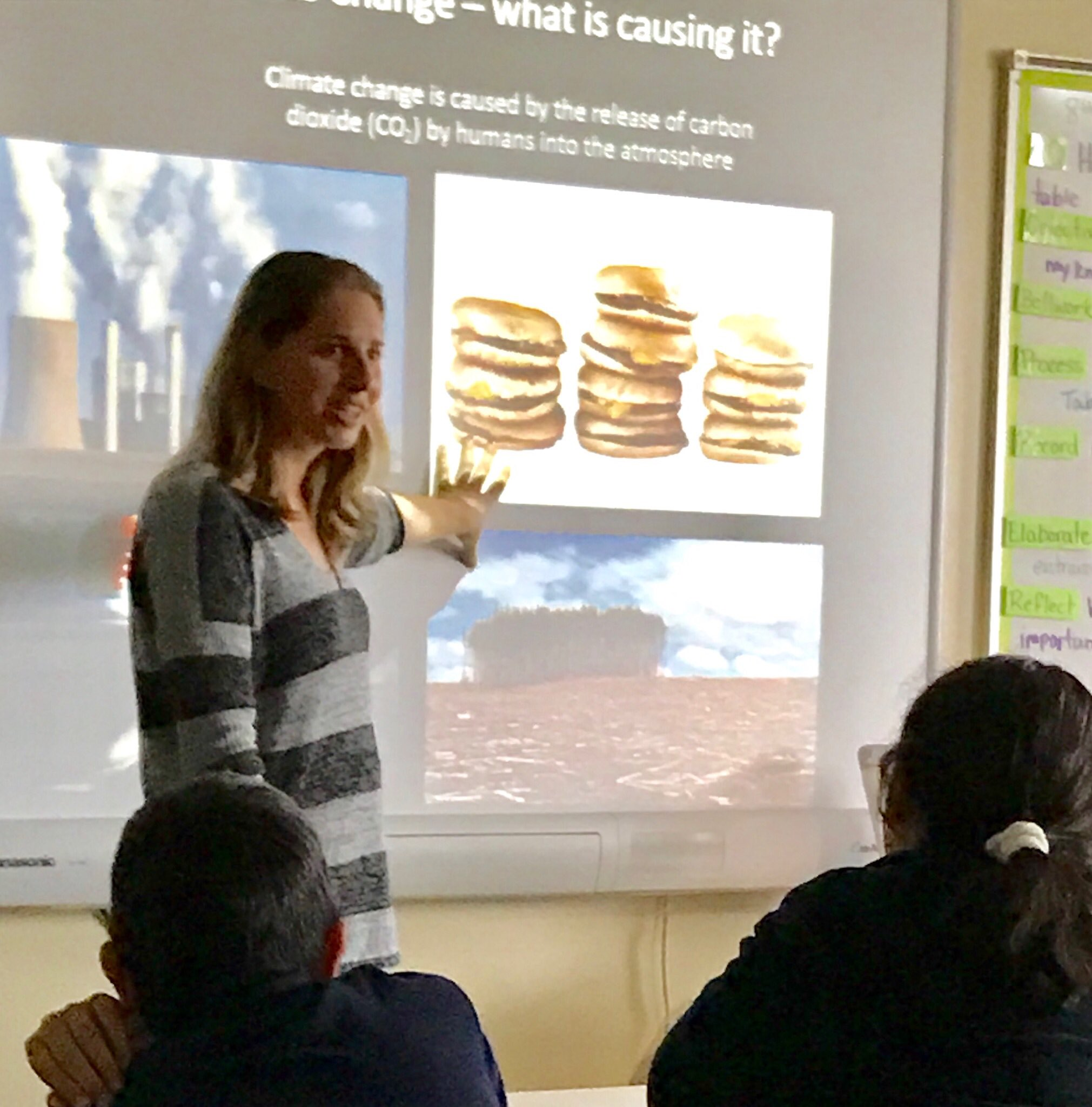 The 8th graders learned about #climateChange and my path to becoming a marine biologist #TeachInForScience #scicomm https://t.co/ZzTrsDLCO1