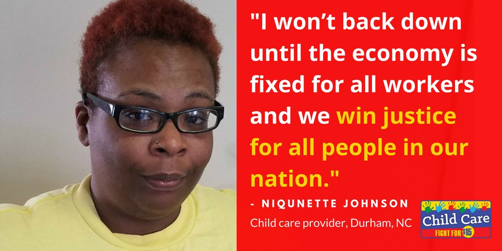 Niqunette is stepping up on Nov 29 because we can't back down until the economy works for all of us. #FightFor15 #ChildCareForAll https://t.co/FGKBjRMRwx