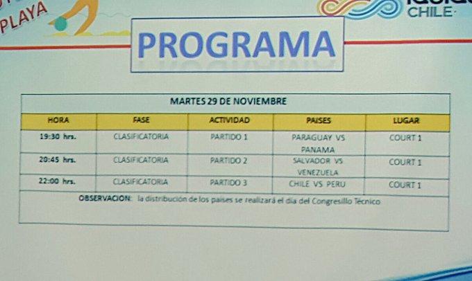 III Juegos Bolivarianos de Playa en Iquique Chile. CyY6IANWQAACDVV