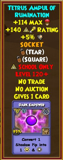 Wizard101 Mirage Gear