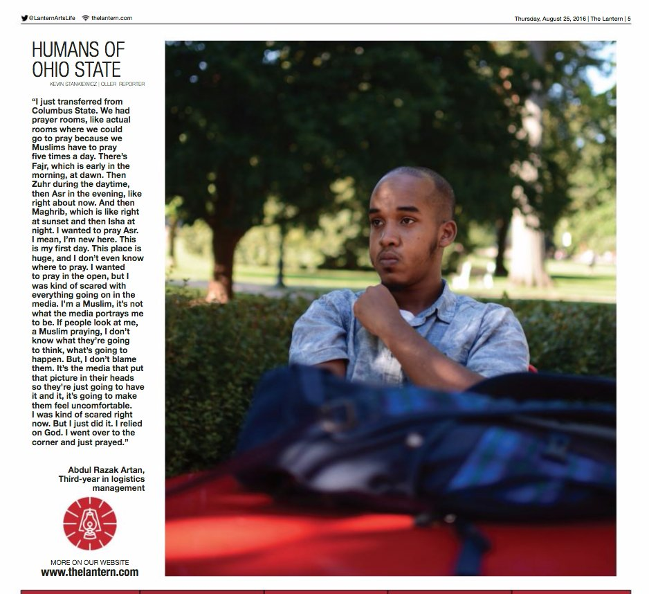 The suspected shooter at OSU, Abdul Razak Ali Artan, was featured in the school newspaper in August: https://t.co/o1bZ3uV7Ri