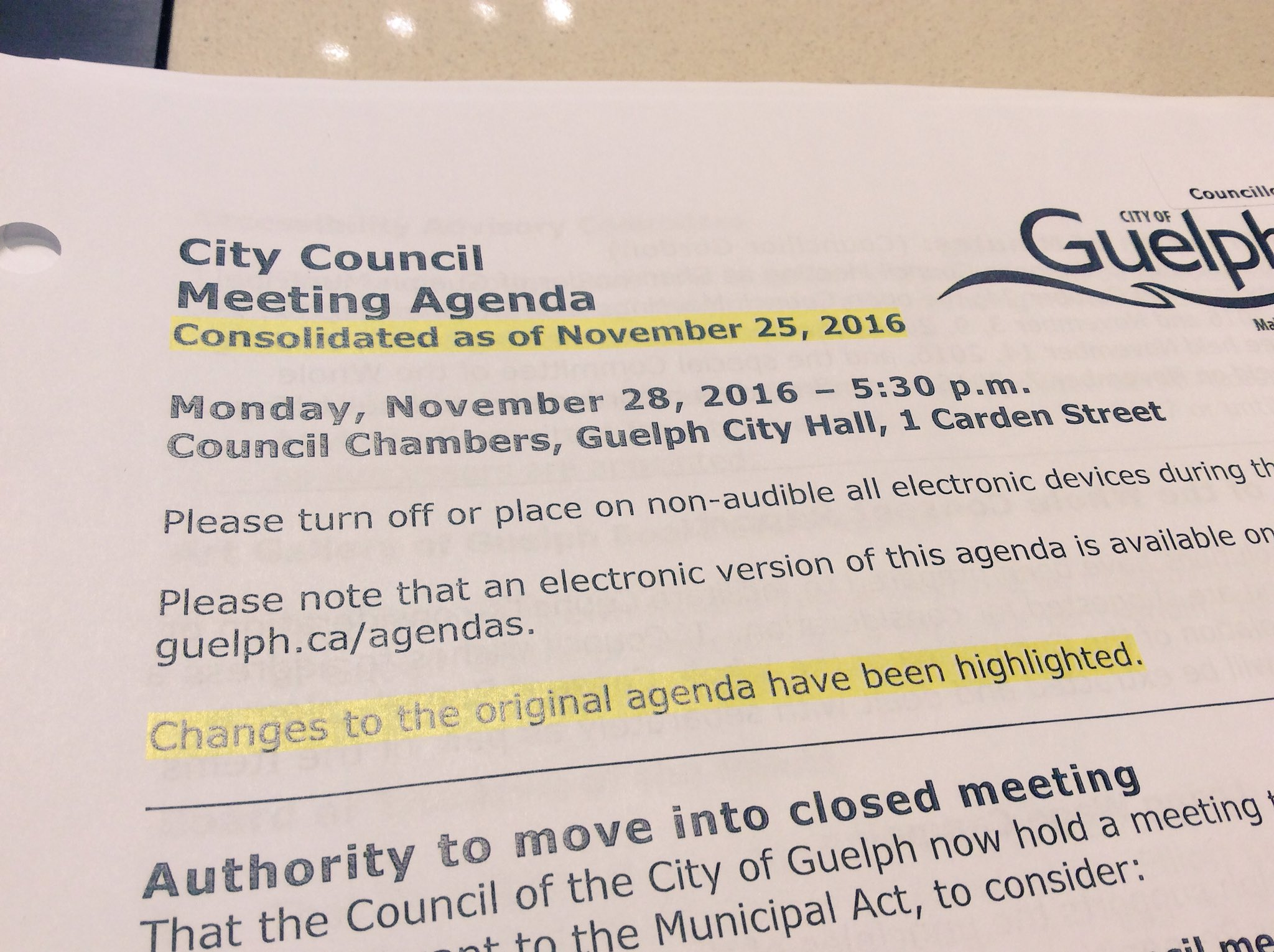 Going to be a long night tonight at #Guelph council with 45+ delegations on 75 Dublin and Guelph's submission to Ont gov about water-taking! https://t.co/VA91S8BRVk