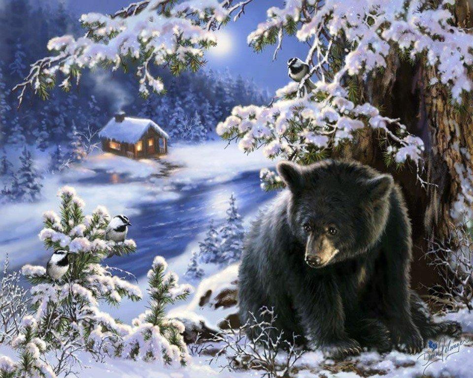 Матроскин, открытки с животными в лесу