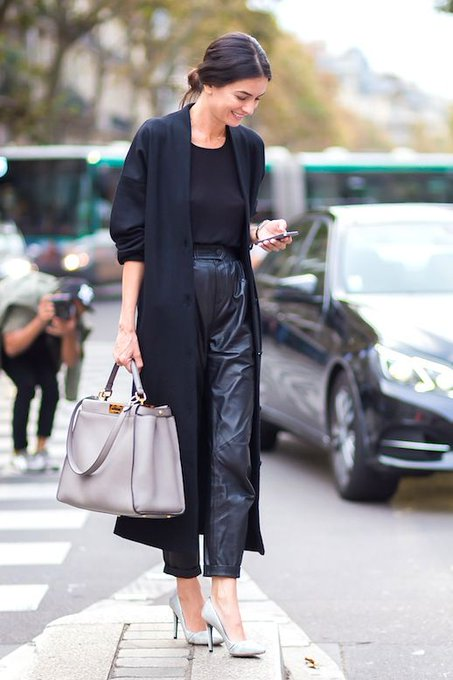How To Wear Leather Pants To The Office