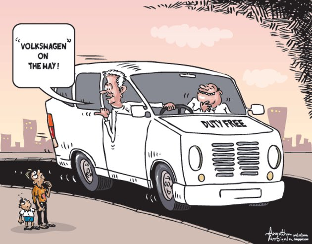 Image result for Volks wagen Sri lanka cartoons