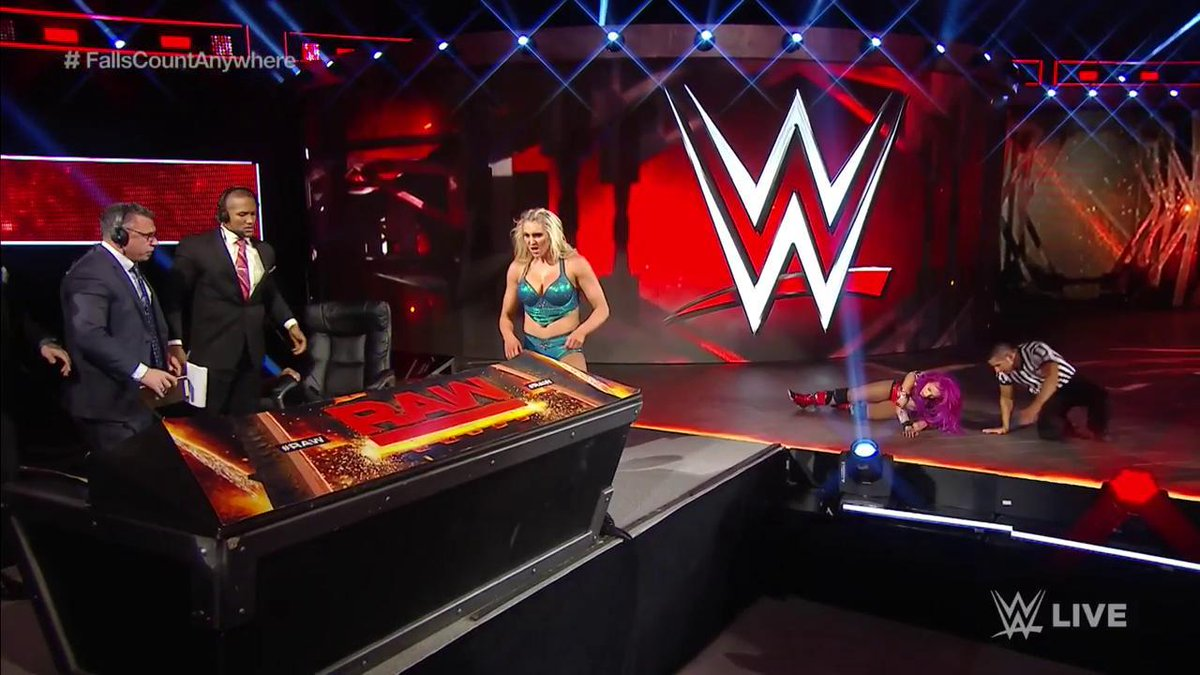 WWE Raw announce table