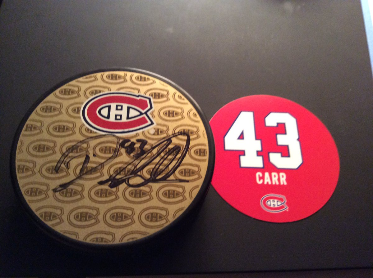 @CanadiensMTL @CHCFondation @DanCarr9 Thank you for this amazing gift!! #mysterypuck Now waiting for the signed tee-shirt I won  <br>http://pic.twitter.com/e9Xi0U9jjI