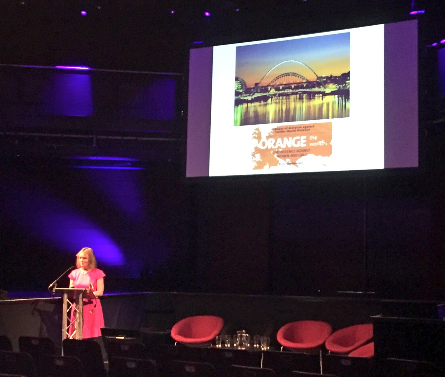 Professor Fionnuala McAuliffe begins her #RCOGNTC presentation by marking #16Days #orangetheworld https://t.co/5wwnMkJupK