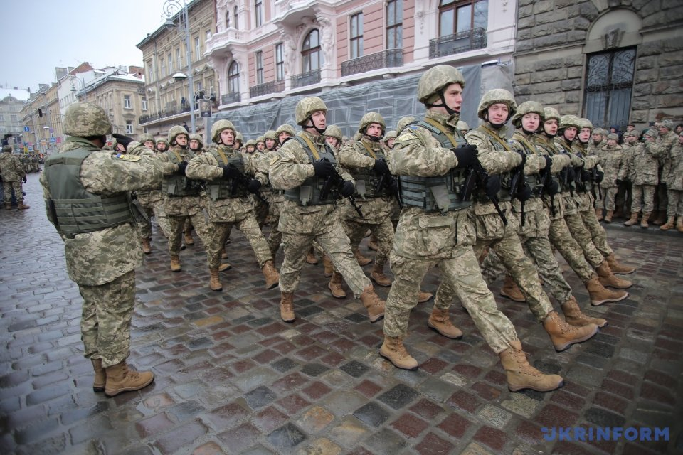 Day of Ukrainian Armed Forces: Military march in L'viv