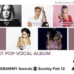 RT @RecordingAcad: Congrats Best Pop Vocal Album n...