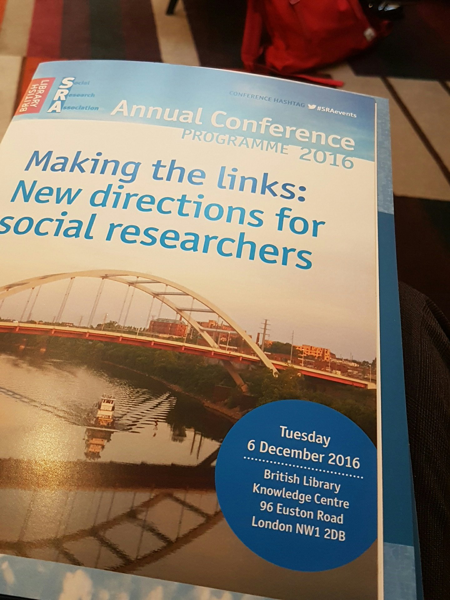 At @TheSRAOrg #sraevents Annual Conference today. Interesting programme with a lot of social research expertise in the room. https://t.co/ywduqZyOqE