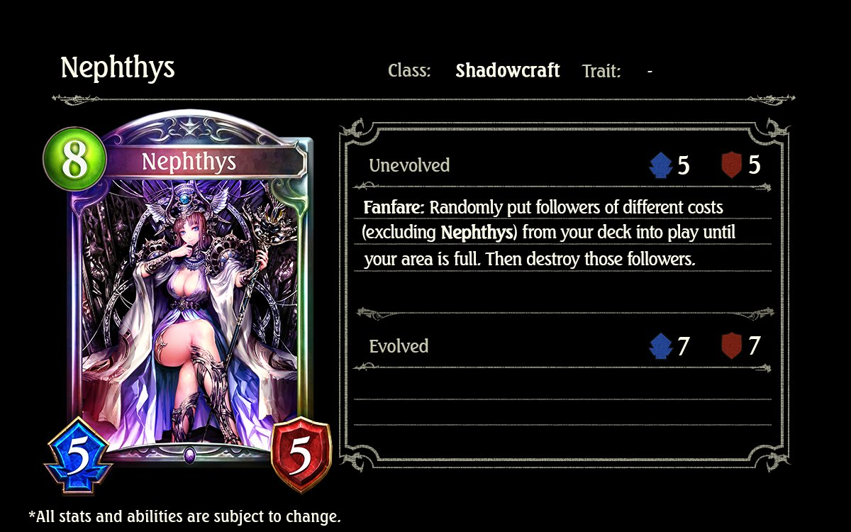Image result for nephthys shadowverse
