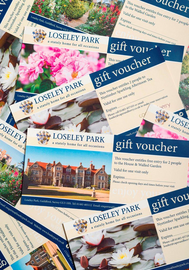 Looking for an unusual #christmaspresent? #giftvouchers to visit #loseley house & #gardens with choice of @caperandberry afternoon teas