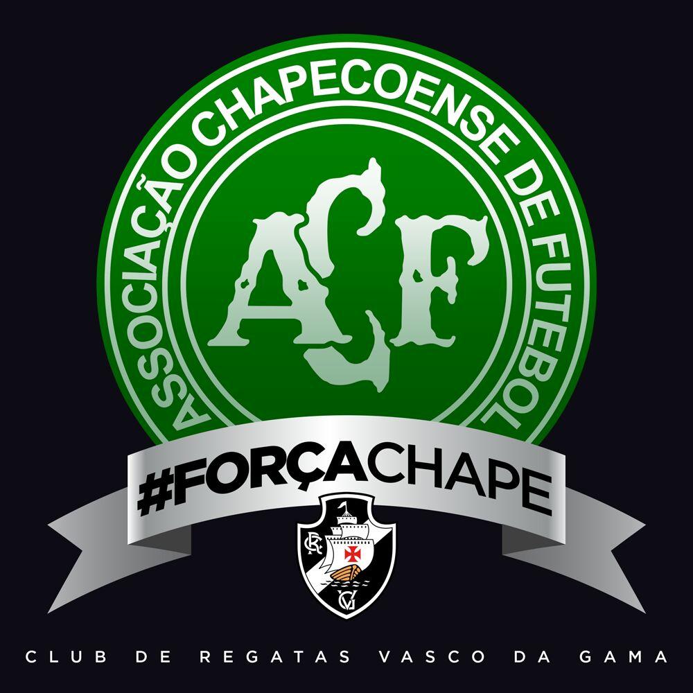 O @vascodagama está com a Chapecoense nesse momento difícil. #ForçaChape