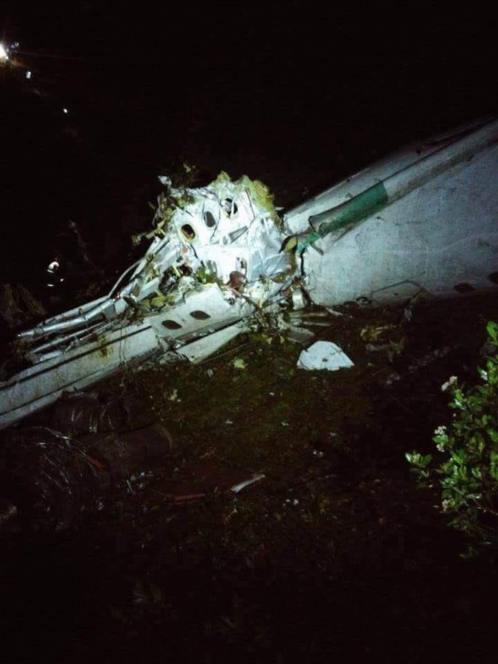 Thumbnail for Las primeras imágenes del avión del Chapecoense de Brasil