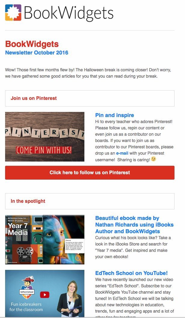 Thanks a million to @ibookwidgets for the shout out in there monthly newsletter. #ibooks #edutech #ibookwidgets #iba