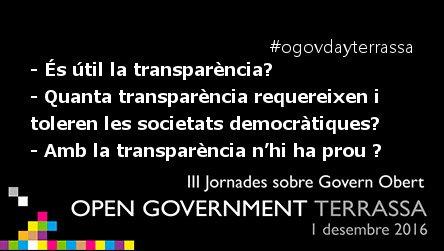 Dijous celebrem l' #ogovdayterrassa! Vine a fer preguntes i trobar respostes #governobert #transparencia #terrassa https://t.co/0JODAVPD1r https://t.co/uwR50i1XbM